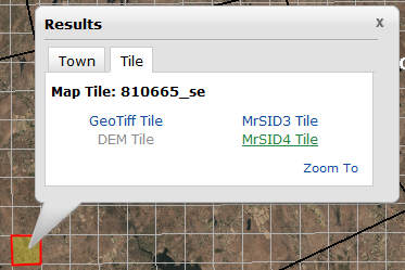 Result Window for a Tile