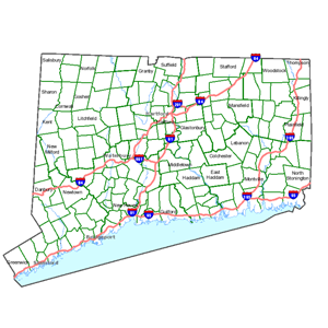 CT ECO Map Image Services - Map connecticut