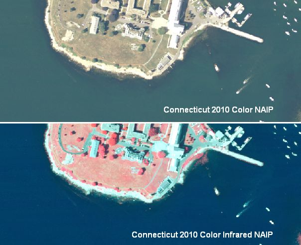 Example of 2010 NAIP Color and Color Infrared Orthophotography