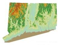 State coverage of Color Shaded Relief map data