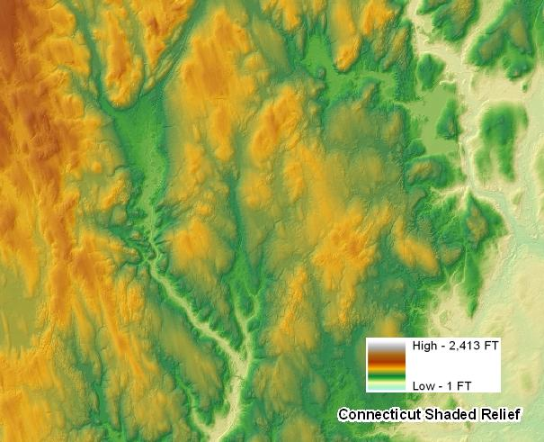 Example of Color Shaded Relief Map