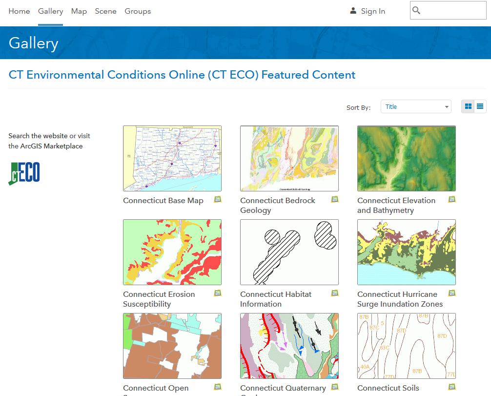 CT ECO ArcGIS Online